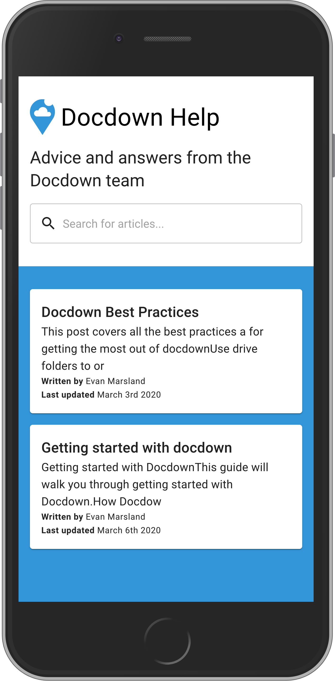 Docdown screenshot